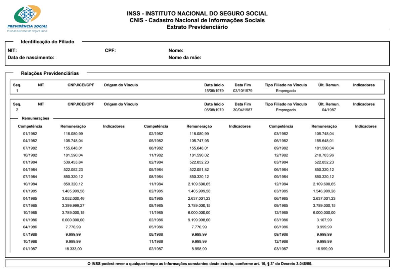 CNIS-Extrato-Previdenciário
